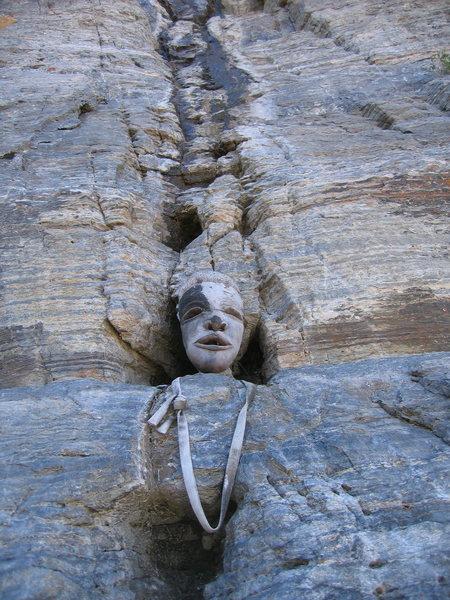 Rock Climbing Photo: The God of Chunder base of pitch 3