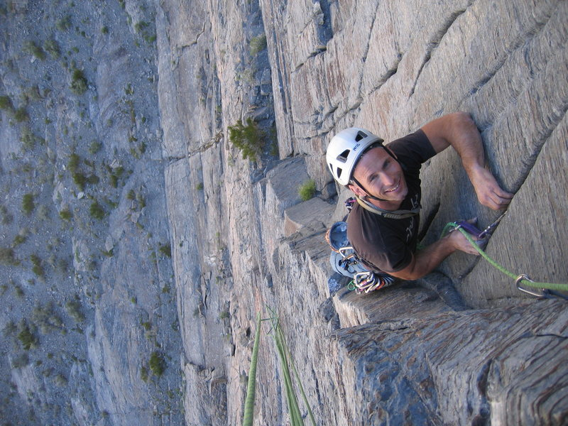 """Tom """"the Hitman""""  grinning on pitch 3"""