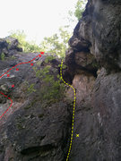 Rock Climbing Photo: This one's clearer and shows the upper part. Also ...