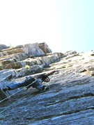 Rock Climbing Photo: Firing up pitch 2.  Tom proves that it's not too h...