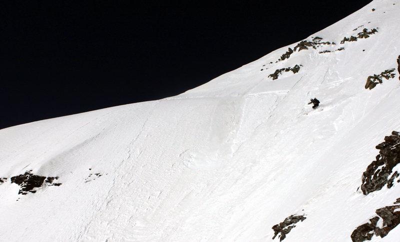 Skiing Pyramid Peak Aspen CO.  Picture is copyright Jordan White 2011.