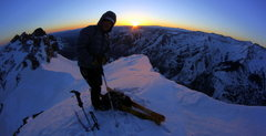 Rock Climbing Photo: Early morning on Pyramid.  Time to get after it!  ...