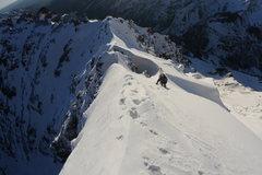 Rock Climbing Photo: Climbing Pyramid Peak.  Photo copyright Jordan Whi...