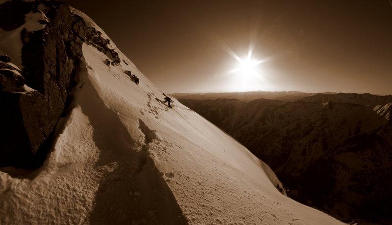 One of the many traverses on Pyramid.  Photo copyright Jordan White 2011.