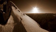 Rock Climbing Photo: One of the many traverses on Pyramid.  Photo copyr...