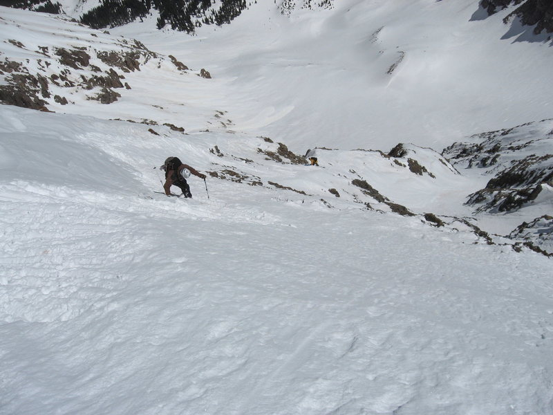 Rock Climbing Photo: The super hairy entrance to Wilson Peak. STEEP!  P...