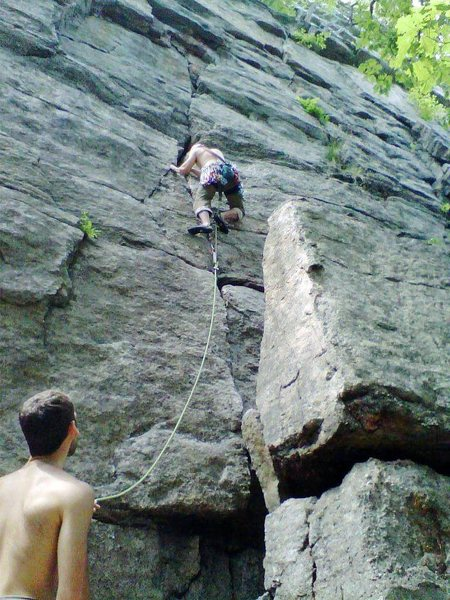 Rock Climbing Photo: start of BM