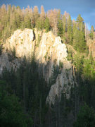 Rock Climbing Photo: View of French Creek Sentinel from shelf road sect...