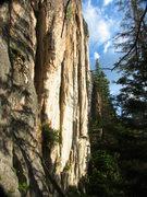 Rock Climbing Photo: The needle eye slit on the French Creek Sentinel