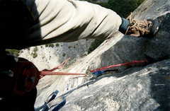 Rock Climbing Photo: Those shoes were new at the start of the climb..