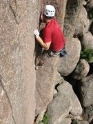 Rock Climbing Photo: venturing out of the crack on left handed jew.