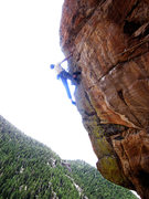 Rock Climbing Photo: Workin the arete before the FA.  This is the &quot...