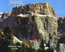 Rock Climbing Photo: The route of Fedele