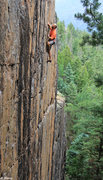 Rock Climbing Photo: Alex on some awesome steep face climbing on Vertic...