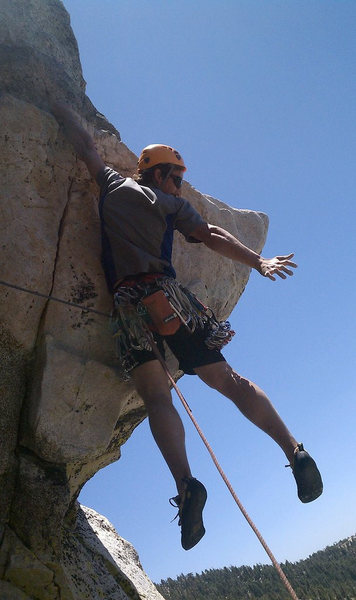 Rock Climbing Photo: Traitor Horn Cooper Hanging out enjoying the view ...