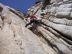 Rock Climbing Photo: Alanna stemming the corner near the end of the 1st...