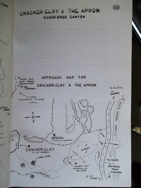 "Rock Climbing Photo: Area map to the ""APRON""..."