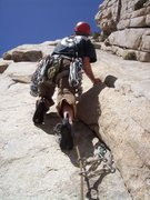 Rock Climbing Photo: Josh starting up pitch 2. You can see the Africa F...