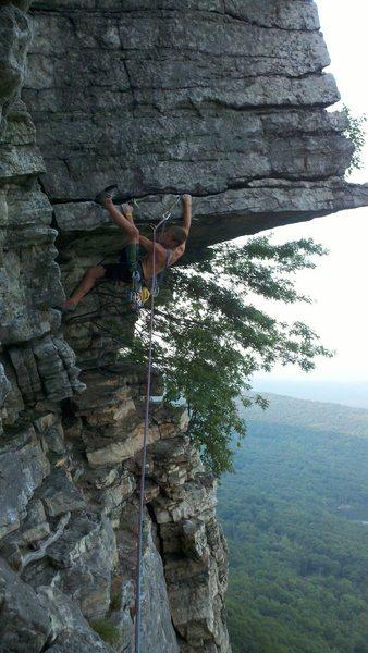 Rock Climbing Photo: Eric J @ the start of the Dangler.