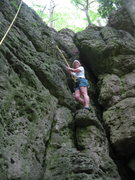 Rock Climbing Photo: Mom starting up a steeper section