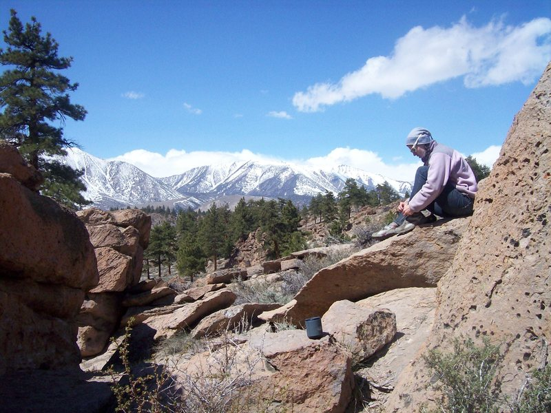 Rock Climbing Photo: A beautiful spring day in The Dreamer's.