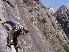 Rock Climbing Photo: Starting out on pitch 3. Beautiful hand jams!
