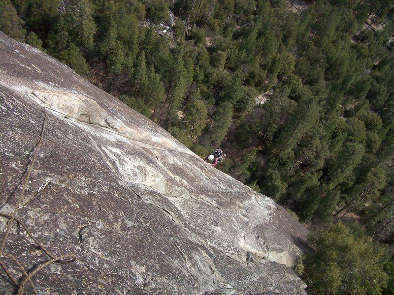 Rock Climbing Photo: Alanna finishing up Nutcracker.
