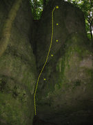 Rock Climbing Photo: Here is a picture of the route. The route is not a...