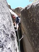 Rock Climbing Photo: Easy chimney, woohoo!