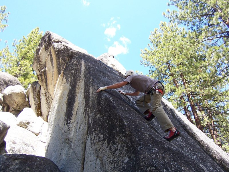 Rock Climbing Photo: Slappin the edge