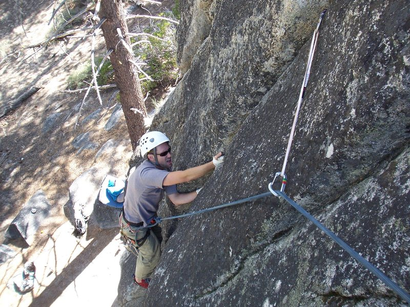 Sharp handjams on the Left Crack.