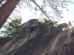 Rock Climbing Photo: Alanna on the upper section
