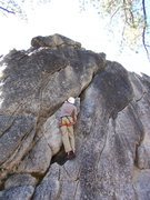 Rock Climbing Photo: Dustin getting aroung the opening bulge.