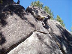 Rock Climbing Photo: Awkward climbing.