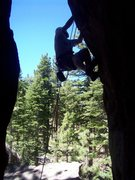 Rock Climbing Photo: Pocket Pool silhouette.
