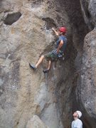 Rock Climbing Photo: Great rest for the sustained section above.