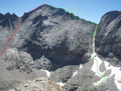 Rock Climbing Photo: This is how we climbed it, although there are a nu...