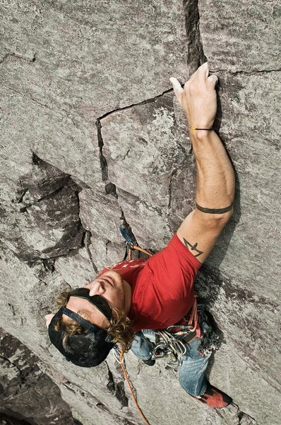 Rock Climbing Photo: Great route. Photo: Peter Beck.