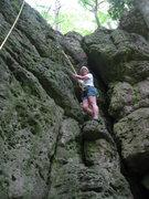 Rock Climbing Photo: Mom climbing