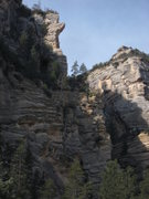 Rock Climbing Photo: view of the route from near the trailhead