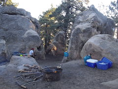 Rock Climbing Photo: Second from last campsite, Pine Mountain