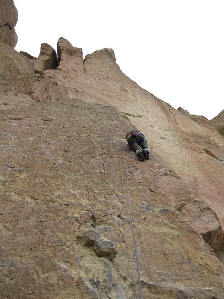 Rock Climbing Photo: Colins first 5.9 onsight