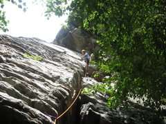 Rock Climbing Photo: July 17th, 2011 First lead at Moores
