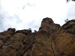 Rock Climbing Photo: At the finish of Pretty Boy Floyd.