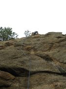 Rock Climbing Photo: Setting the TR.