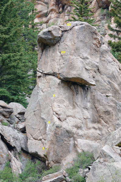 """West face of the """"Honey Bear""""."""