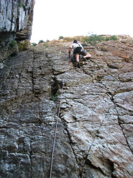 Rock Climbing Photo: Matt crushin' Over Easy