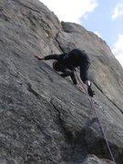 Rock Climbing Photo: Dottie Cross on the FA!