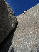 Rock Climbing Photo: Patty Black toppin' out the FA of Nacho Libre