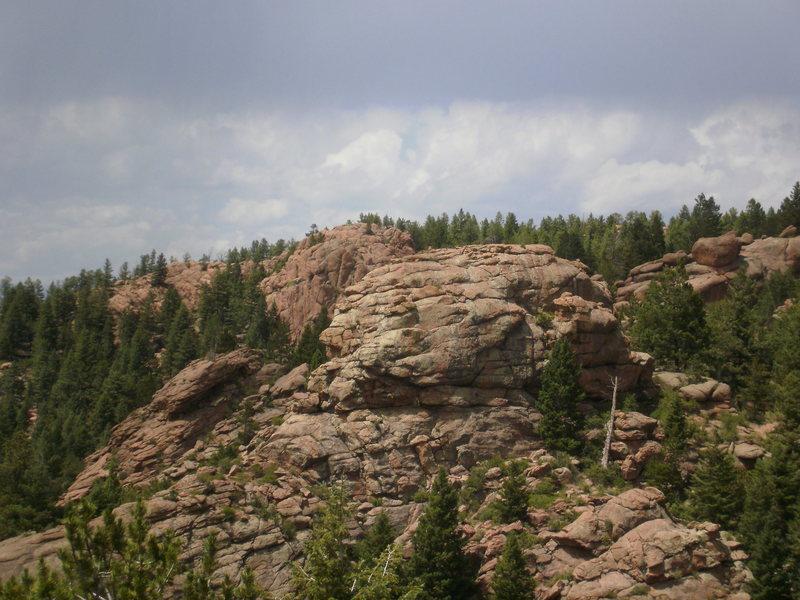 Rock Climbing Photo: Training Ground from Chicken Head Ranch.